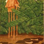 ON THE WAY HOME / Kotiinpaluu, woodcut 1987, Edition 6, 36x52cm, Sold out