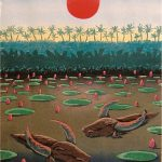 EARLY IN THE MORNING / Aamulla varhain, woodcut 1988, Edition 8, 36x49cm, Sold out