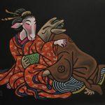SHUNGAMOOD 2 / Lemmekästä oloa 2, Pastel on paper 2011, 70 x 100 cm, 600 €