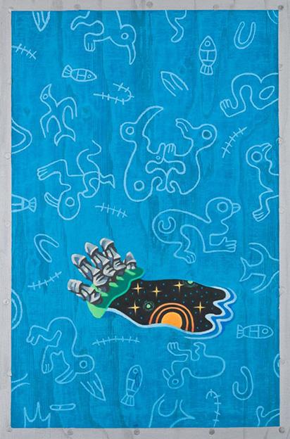 EASTER ISLANDS / Pääsiäsisaaret, Pastelli puulle 2013, 40x60 cm, 1200 €