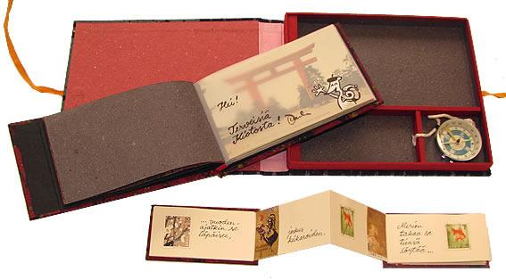 Time traveller in Japan, Handbound artist book 2012, box open