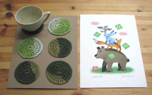 Print & Coaster set, 2016, print size 21x30 cm, 120 €