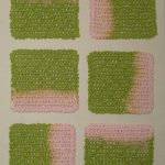 Coasters, pink-green