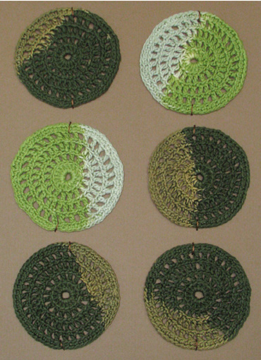 Coasters, mixed green