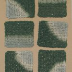 Coasters, gray-dark green